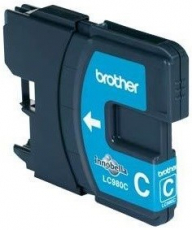 ORIGINAL Original Tinte Brother LC-980C, ca. 260 S., cyan
