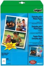 Foto-Glossy-Papier A4 170g weiß hochglänzend sigel, nur für Tintenstrahlgeräte