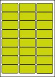 PRINTATION Folien-Etiketten matt transparent (B63,5xH33,9mm) 25xA4 à 24 Eti.