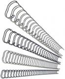 Drahtbinderrücken für 120 Blatt (14 mm) silber Leitz US-Teilung 34 Ringe (27719)