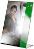 Tischaufsteller A5, schräg, glasklar, aus Acryl sigel (TA212)