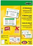 Visitenkarten auf A4-Träger hochweiß 225g, 85x55mm sigel, 10 Bl. je 10 Rohlingen
