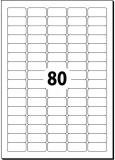 Etiketten selbstklebend auf A4-Träger ABLÖSBAR 35.6x16.9mm weiß sigel 25 Blatt
