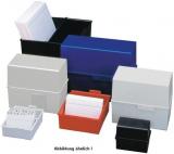 Karteikasten A7 blau quer HAN (977), B121 x H101 x T74mm, für ca. 300 Karten