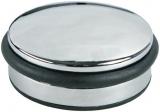 Türstopper rund Farbe Chrom mit Gummiring zum Schutz der Tür Alco