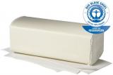 Falthandtuch 100% Zellstoff 2-lagig, hochweiß Tissue, Dekorpräg. V-Falzung Fripa