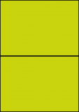 PRINTATION Folien-Etiketten matt transparent (B210xH148,5mm=A5) 10xA4 à 2 Eti.