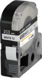 PRINTATION Epson LW 300 Band 12mm x 8m, schwarz auf weiß, PRINTATION
