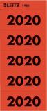 Inhaltsschildchen Jahreszahlen 2020 selbstklebend Leitz rot 14200025