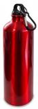 Alu-Trinkflasche ISO, robust, 770ml Inhalt, inkl. Karabinerhaken, rot