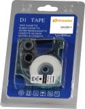 PRINTATION Printation Beschriftungsband ersetzt Dymo  45013/D1, schwarz auf weiß, 12mm x 7m