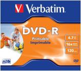 DVD-R Rohling 4.7GB/120min Verbatim 16x DataLife Plus, Printable Surface