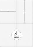 PRINTATION Papier-Etiketten Haft-PLUS (B105xH148,5mm=A6) 100xA4 a 4 Eti.