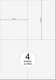 PRINTATION Papier-Etiketten (B105xH148,5mm=A6) 500xA4 à 4 Eti.