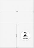PRINTATION Papier-Etiketten Haft-PLUS (B210xH148,5mm=A5) 100xA4 a 2 Eti.