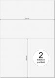 PRINTATION Papier-Etiketten (B210xH148,5mm=A5) 500xA4 à 2 Eti.