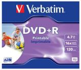 DVD+R Rohling 4.7GB/120min im Jewelcase Verbatim 16x bedruckbar, DataLife Plus