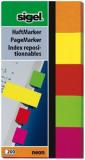 Haftmarker Neon 20 x 50mm 5 Neon Farben sigel 200 Streifen aus Papier
