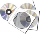 CD-Hüllen aus Papier, selbstklebender Verschluss, mit Fenster, weiß, 124x124mm
