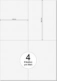 PRINTATION Folien-Etiketten weiß (B105xH148,5mm=A6) 25xA4 à 4 Eti.