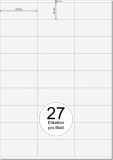 PRINTATION Papier-Etiketten (B70xH32mm) 25xA4 à 27 Eti.