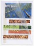 Sichthullen A5 transparent m. Griffausstanzung dokumentenecht PP-Folie genarbt