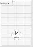 PRINTATION Papier-Etiketten (B48,5xH25,4mm) 100xA4 à 44 Eti.