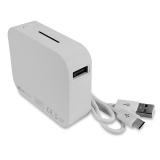 NEU USB-Powerbank Metmaxx 4.400 mAh Kapazität, LED Beleuchtung, weiß